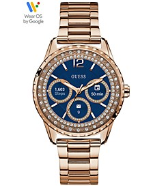 Connect Women's Rose Gold-Tone Stainless Steel Bracelet Touchscreen Smart Watch 40mm