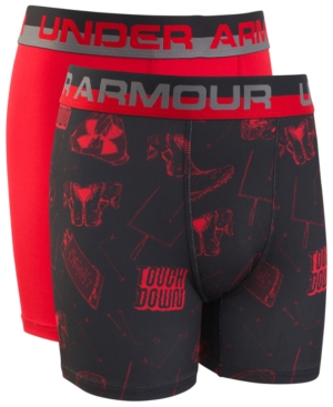 Under Armour Big Boys 2Pack Performance Boxers