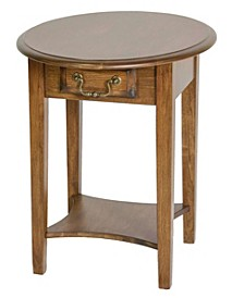 Emily Round End Table With Drawer