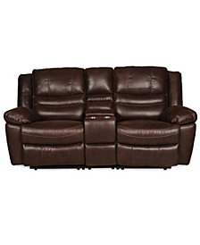 Liam Manual Reclining Loveseat With Console