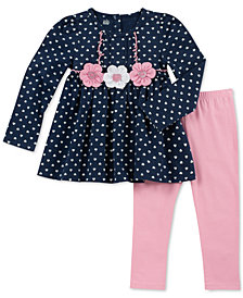 Kids Headquarters Baby Girls 2-Pc. Heart-Print Tunic & Leggings Set