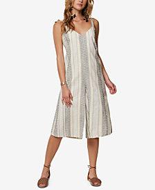 O'Neill Juniors' Margarita Cotton Striped Jumpsuit