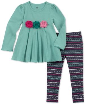 Kids Headquarters Baby Girls 2Pc Flower Tunic  Printed Leggings