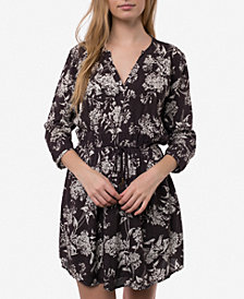 O'Neill Juniors' Lynnie Printed Drawstring Tassel Dress