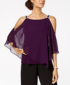 MSK Cold-Shoulder Overlay Top