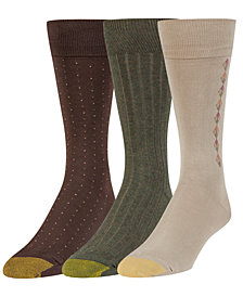 Gold Toe Men's 3-Pk. Extended-Size Crew Socks