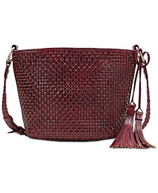 Patricia Nash Banyoles Woven Leather Crossbody