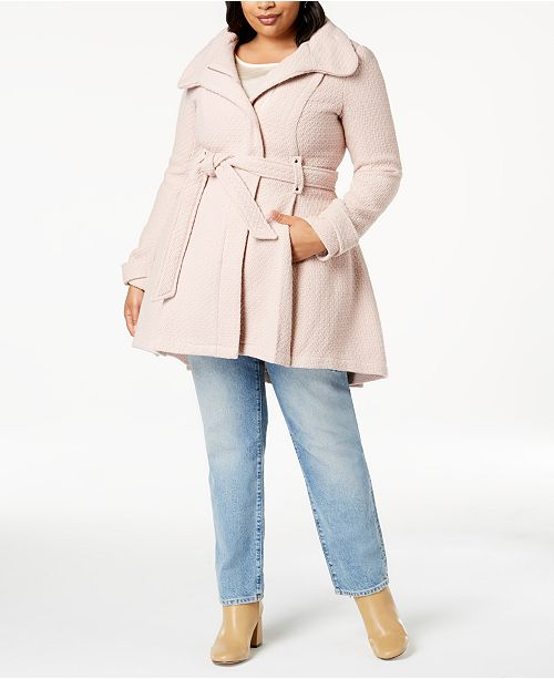 f0806135118 Madden Girl Juniors  Plus Size Belted Wrap Coat   Reviews - Coats ...