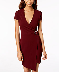 Almost Famous Juniors' Grommet Wrap Dress
