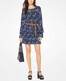 MICHAEL Michael Kors Tiered-Sleeve Top, Regular & Petite