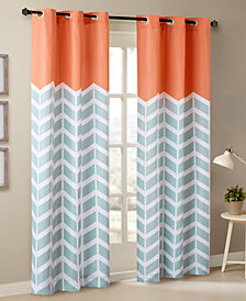 "Intelligent Design Alex Colorblocked Chevron-Print 42"" x 84"" Grommet Window Panel Pair"