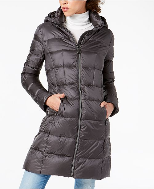 0bbfcb7dd Michael Kors Hooded Packable Puffer Coat & Reviews - Coats ...