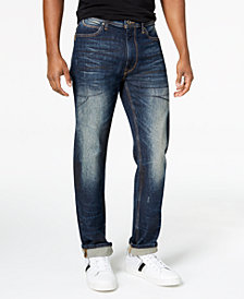 Sean John Men's Big & Tall Relaxed Tapered Jeans, Created for Macy's