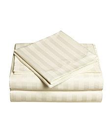 Dobby Stripe 4-Pc Queen Sheet Set