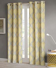 "Intelligent Design Senna Damask-Print 42"" x 63"" Room-Darkening Grommet Window Panel Pair"