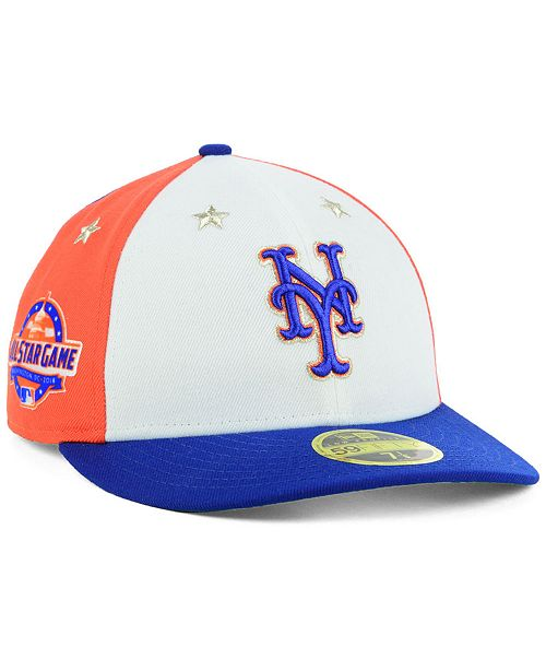 official photos 7947c 15a69 ... New Era New York Mets All Star Game Patch Low Profile 59FIFTY Fitted Cap  2018 ...