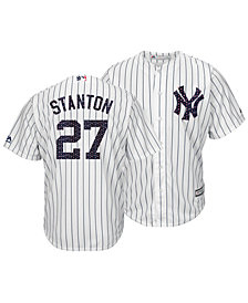 fac989a12 Majestic Men s Giancarlo Stanton New York Yankees Stars   Stripes Cool Base  Jersey