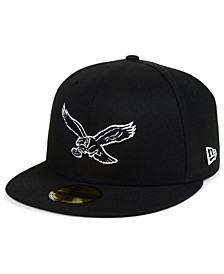 Philadelphia Eagles Black And White 59FIFTY Fitted Cap