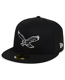 New Era Philadelphia Eagles Black And White 59FIFTY Fitted Cap