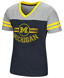 Colosseum Michigan Wolverines Pee Wee T-Shirt, Girls (4-16)