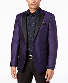 Tallia Men's Big & Tall Slim-Fit Purple Medallion Dinner Jacket