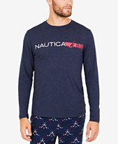 Nautica Men s Space-Dyed Logo Long-Sleeve T-Shirt 5912ad878