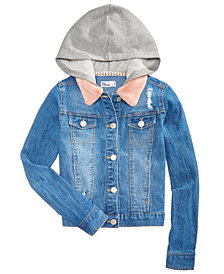 Epic Threads Big Girls Hooded Denim Jacket, Created for Macy's