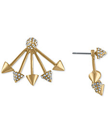 RACHEL Rachel Roy Gold-Tone Pavé Spike Ear Jacket Earrings