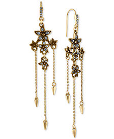 RACHEL Rachel Roy Gold-Tone Pavé Flower & Spike Chandelier Earrings