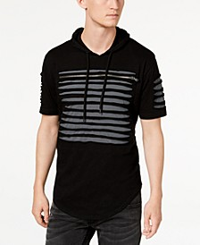 INC Men's Slashed Short-Sleeve Hoodie, Created for Macy's