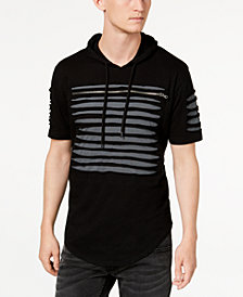 I.N.C. Men's Slashed Short-Sleeve Hoodie, Created for Macy's