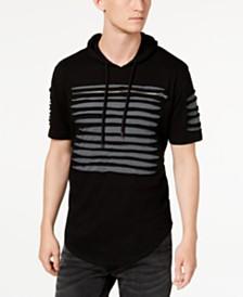 I.N.C. Men's Slashed Short-Sleeve Hoodie, Created for Macy's