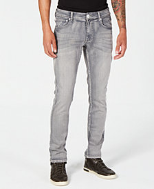 I.N.C. Men's Skinny-Fit Stretch Gray Jeans, Created for Macy's