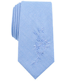 Bar III Men's Wilkins Floral Solid Skinny Tie, Created for Macy's