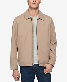 Tommy Hilfiger Men's Lightweight Full-Zip Micro-Twill Jacket