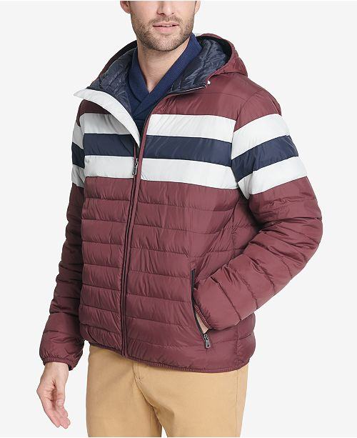 75d3a374 ... Tommy Hilfiger Men's Color Block Hooded Ski Coat, Created for Macy's ...