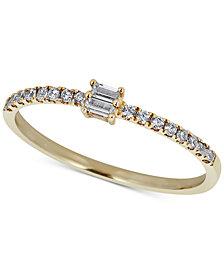 Diamond Baguette Ring (1/4 ct. t.w.) in 14k Gold