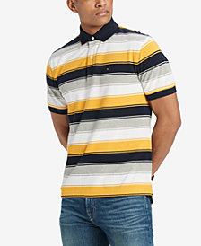 Tommy Hilfiger Men's Aldo Striped Classic Fit Polo Shirt, Created for Macy's