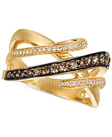 Chocolatier® Diamond Interwoven Statement Ring (5/8 ct. t.w.) in 14k Gold