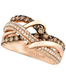 Le Vian Chocolatier® Diamond Intertwined Ring (1-1/8 ct. t.w.) in 14k Rose Gold