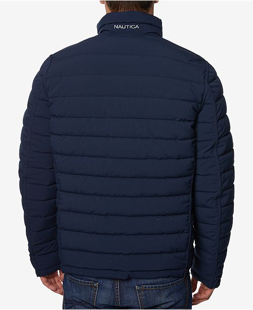 nautica men s quilted stretch reversible jacket coats jackets