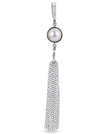 Mabé Cultured Freshwater Pearl and White Topaz Tassel Enhancer in Sterling Silver