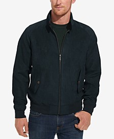 Men's Faux-Suede Full-Zip Bomber Jacket
