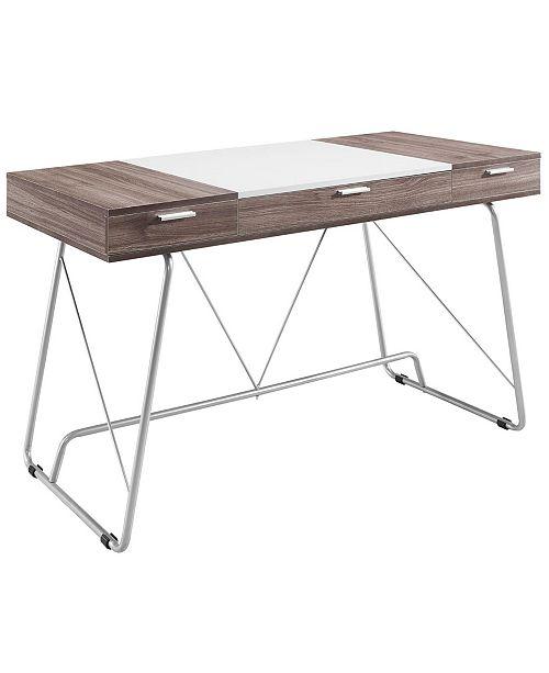 Modway Panel Office Desk in Birch
