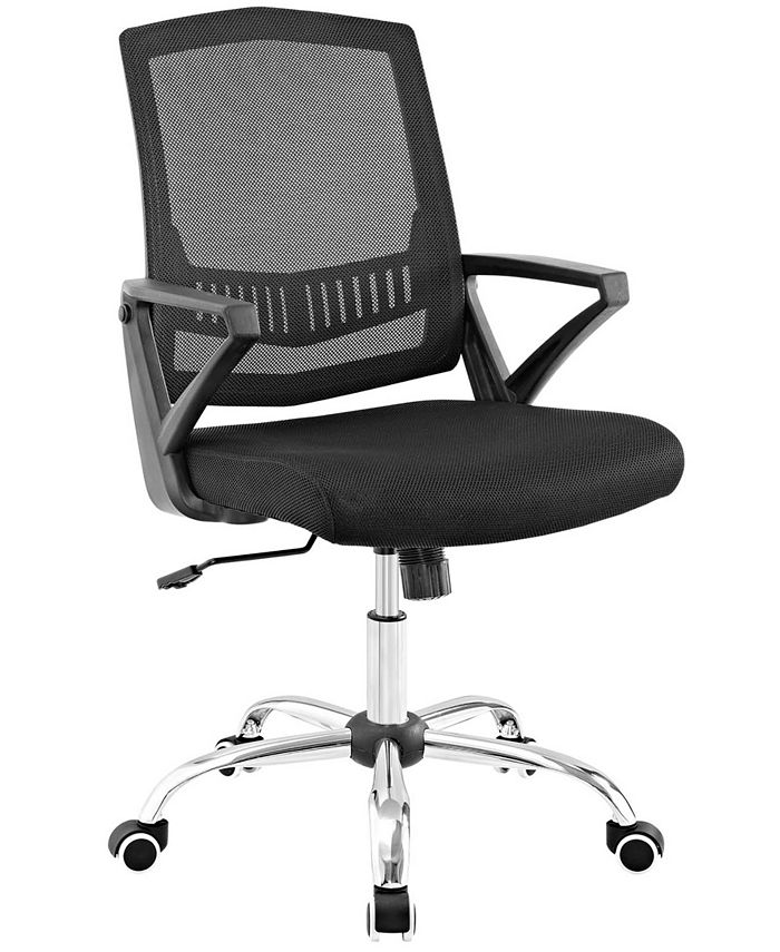 Modway - Proceed Mid Back Upholstered Fabric Office Chair in Black