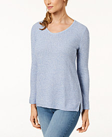 Karen Scott Petite Cotton Sweater, Created for Macy's