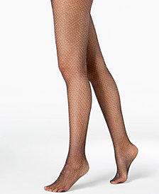 I.N.C. Glitter Fishnet Tights, Created for Macy's