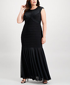 Xscape Plus Size Bandage Mermaid Gown