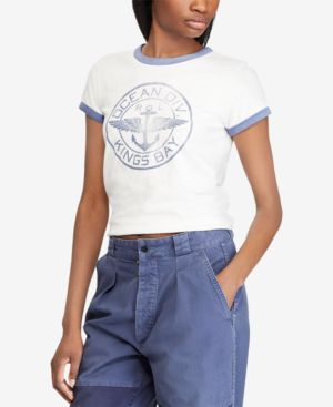 Graphic Cotton T-Shirt in White