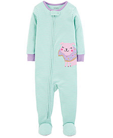 Carter's Baby Girls Doughnut Pug Footed Cotton Pajamas